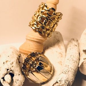 Two Gold and Silver Toned Rings